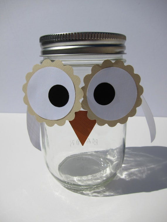 Party OWLS: Paper Owl faces and Owl wings Die Cut for Party and Shower Favors- set of 10 owls