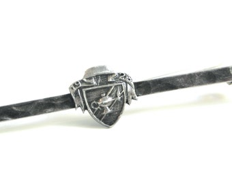 Vintage Sterling Silver College Pin - Ball Teachers College 1923, Vintage Jewelry, Bar Pin