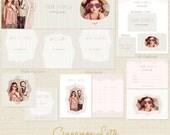 CINNAMON LATTE Premade Photography Marketing Template Set