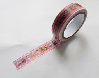 Tape-Washi Tape-Masking Tape-Single Roll- Nesting Russian Matryoshka Dolls 1
