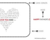 Father's Day Card - I Love You Dad Typographic & Moustache Happy Father's Day Design
