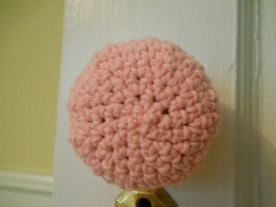 Baby Doll Pink Door Knob Cozy (doubles as child proof door knob cover)