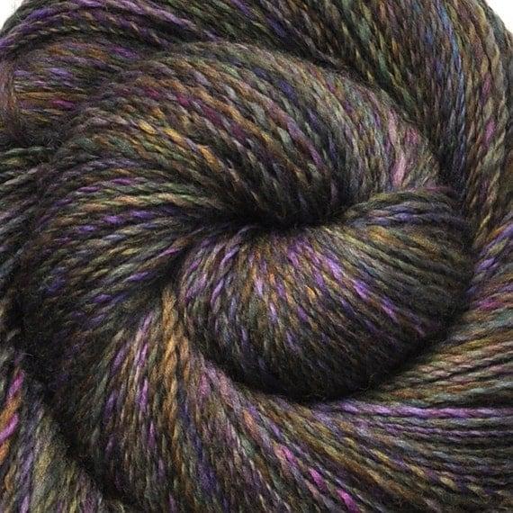 Handspun yarn - SHADOWLANDS -  Handpainted Falkland wool, fingering weight, 445 yards