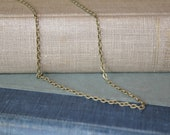 16 inch or 18 inch Antique Brass finish 2mm, chain, necklace , for men, women, teens