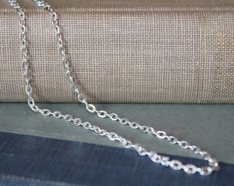 Silver Vintage Style Chain for pendant, man, women, teen