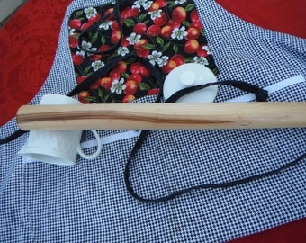 Straight Pastry Rolling Pin 16 inch Handmade Oregon Plum Hardwood Country Contemporary Kitchen Tools Kitchen Utensil Kitchen Essentials