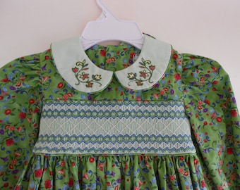 Hand Smocked Children's Dress size 4