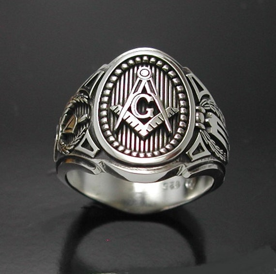 masonic ring cigar band style 011 in sterling by