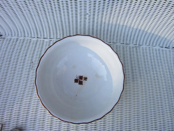 Reserved for Mike Fenton Ironstone tea leaf bowl white