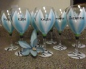 Bling My Bridesmaids in shades of blue (set of 10 oversized)