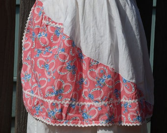 Darling Vintage Half Apron - Ribbons and Roses