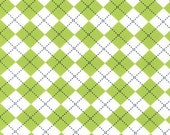 Lime Green Argyle From Robert Kaufman's Remix Collection