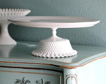 "16"" Cake Stand / White Ceramic Cake Stand Cupcake Stand / Wedding Cake Stand for White Weddings / Cake Platter Pedestal"