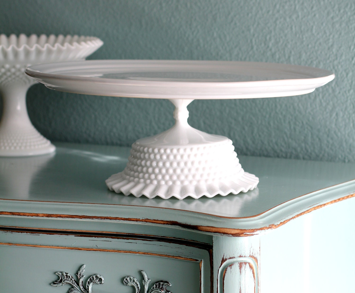 16 Cake Stand White Ceramic Cake Stand Cupcake By TheRocheStudio