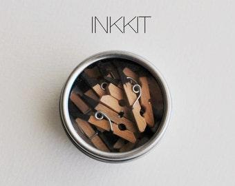 mini clothespins black dipped (10 clothespins)
