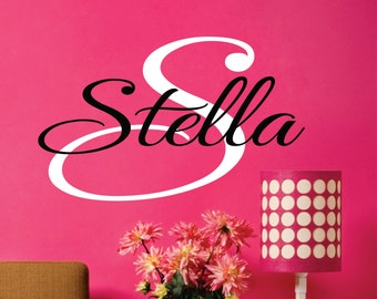 Personalized Childrens Wall Decal - Name Wall Decal - Teen Decal - Girls  Name Vinyl Decal
