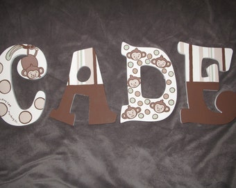 Morgan the Monkey Inspired Hand Painted Letters ***MESSAGE BEFORE ORDERING***