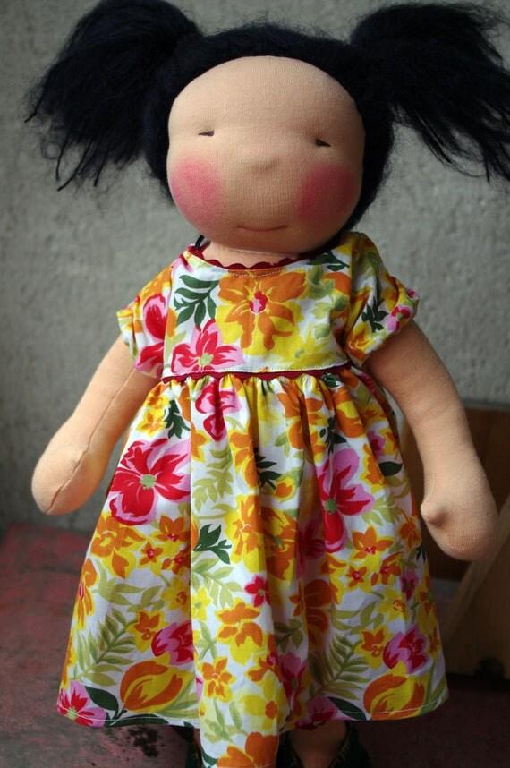 """ooak 16"""" waldorf inspired doll: iza"""