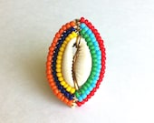 MAASAI LOVE MINI - Cowrie Shell Wrapped Ring