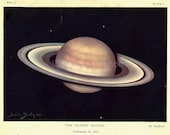 Vintage Print THE PLANET SATURN Dec 18 1910, planets astronomy space solar system Natural History Art print