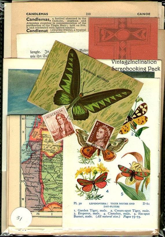 VINTAGE BEAUTIFUL MIX Vintage Collage and Scrapbook Kit pack number 31