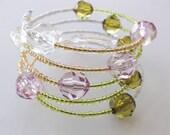 Memory wire bangle - Trio colourful bangle