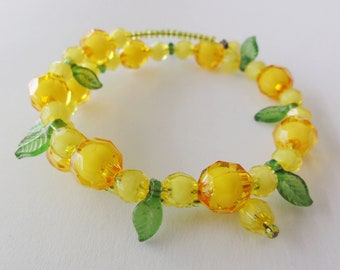 Orange and yellow bracelet / bangle