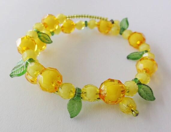 Orange and yellow bracelet / bangle