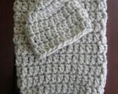 Baby Crochet Pattern - Crochet PATTERN - Crochet Pattern Baby - Newborn Cocoon Pod & Beanie Hat Set - Photo Prop Pattern - PDF 262