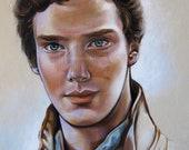 Portrait of Benedict Cumberbatch // 16''x20'' Print
