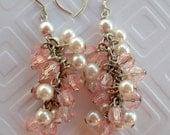 Great falls of Pink dangle earrings