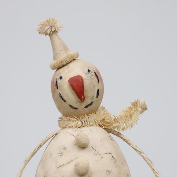 Snowman Christmas Folk Art Holiday Decoration