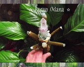 Fairy wand with Crystals - Mistletoe wand -Fairy  magic
