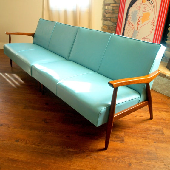 Danish Modern Sofas: 50s VINTAGE DANISH MODERN Sectional Sofa By ACESFINDSVINTAGE