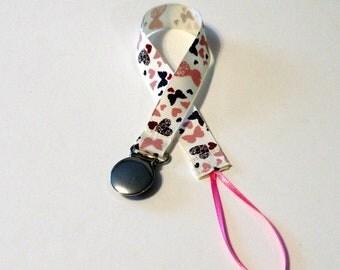 Pacifier Clip Pacifier Holder Butterfly Heart  Ribbon