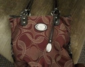 Vintage Ladies Purse Handbag Style by Rosetti Canvas Good Condition Only 6 USD