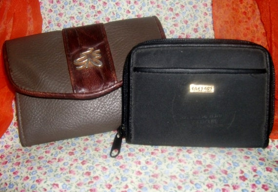 Two Vintage Wallets Sarah Coventry Wallet and Coin/Change Purse from Caesar's Palace Shabby Chic Both Only 5 USD