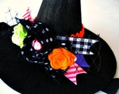 Witchcraft Halloween Embellished Mini Felt Witch Hat Headband for Baby and Kids Costume