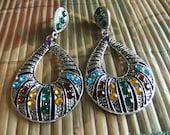 tibet rhinestone earrings