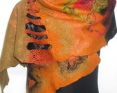 Scarf Autumn Winter Fashion Felted Wool wrap gift for her for mom fashion clothing women - Autumn
