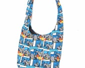 Classic Batman Comic style Bag- FREE SHIPING WORLDWIDE- Handmade over the shoulder