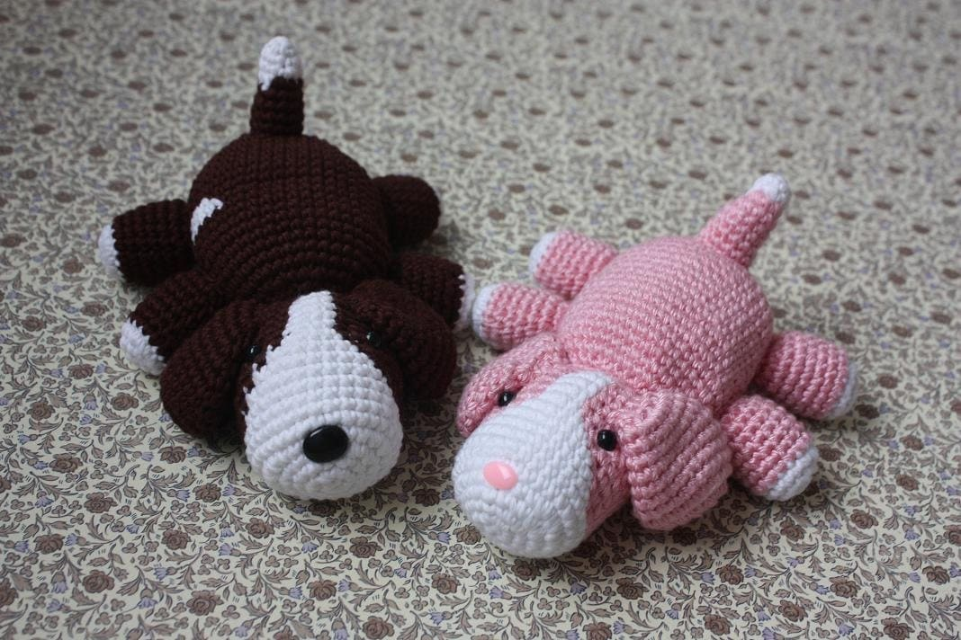 Amigurumi Change Yarn : Amigurumi Dog Pattern Crochet PDF Tutorial In by TinyAmigurumi