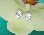 Herkimer Diamond Sterling Silver Stud Earrings