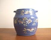 Rustic Crock, Handpainted Pottery