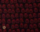 Japanese Fabric : Winking Owls - 1/4 Yard