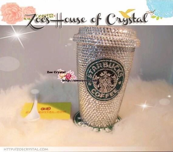 Stylish Bling Crystallized Starbucks Ceramic Mug Cup
