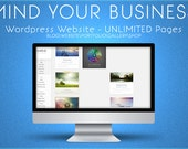 Wordpress website & blog - Web design and development - fully editable and updateable custom website and blog