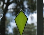 Lime Green Diamond Ornament for your Christmas Tree or Holiday Package Embellishment