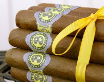 16 Wedding Cigar Bands - Regal Wedding Monogram