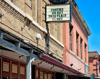 Panties Or Not This Place Is Hot - Funny Bar Sign - Available Sizes (5x7) (8x10) (11x14) (16x20) (20x25) (24x30)